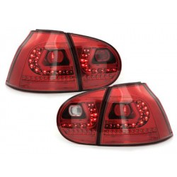 LITEC LED taillights VW Golf V 03-09_red/crystal