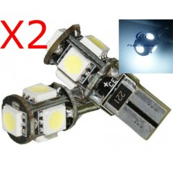 2 x 5 led SMD CANBUS - T10 W5W Lampen