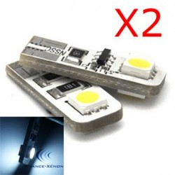 2 x AMPOULES 2 LEDS SMD CANBUS - T10 W5W