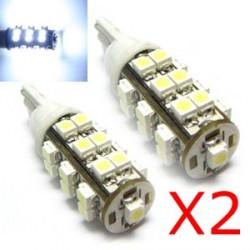 2 x 25 Lampadine a LED BIANCHI - LED SMD - T10 W5W