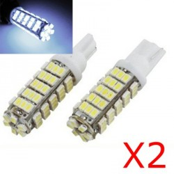 2 x BULBS 66 LEDS WHITE - W5W W16W