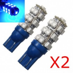 2 x 25 lampadine LED blu T10 - SMD - T10 W5W