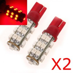 Lampadine 2 x 25 LED ROSSO - LED SMD - T10 W5W