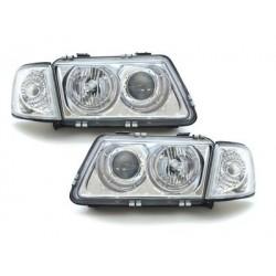 Lot 2 phares AUDI A3 8L 09.96-08.00_2 halo rims_chrome