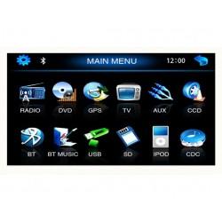 Autoradio DVD GPS 2-DIN - Tactile
