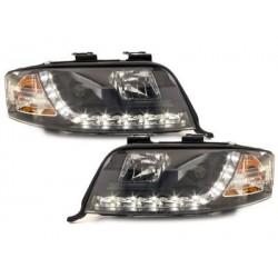 DECTANE DRL look headlight AUDI A6 4B 97-01_drl optic_black