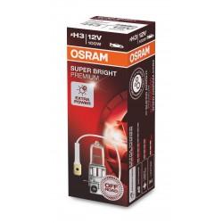 1x H3 100W OSRAM SUPER BRIGHT PREMIUM 62201SBP 12V PK22S