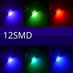 Remote Control 12 Rgb Car Led panel interior Auto lights Reading Dome Festoon