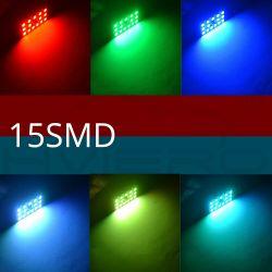 Fernbedienung 15 RGB Auto Led Panel Innenraum Auto Lichter Reading Dome Festoon