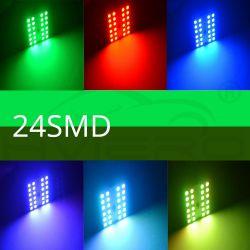 Fernbedienung 24 RGB Auto Led Panel Innenraum Auto Lichter Reading Dome Festoon