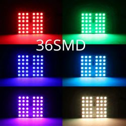 Fernbedienung 36 RGB Auto Led Panel Innenraum Auto Lichter Reading Dome Festoon