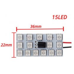 Fernbedienung 15 RGB Auto Led Panel Innenraum Auto Lichter Reading Dome Festoon