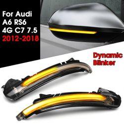 Ripetitori Dynamic LED Specchio AUDI A6 C7 2011 - 2018