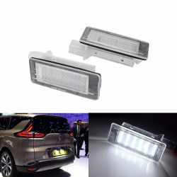LED License plate Espace 3 &  4, Scenic 2, Laguna 2, Modus, Captur, Clio Estate, Dokker, Duster