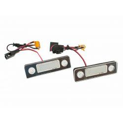 Pack LED plaque arrière GOLF 6, Skoda octavia 2, Seat Leon 2 (type B)- BLANC 6000K