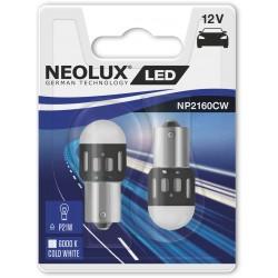 2X P21W LED 6000K NEOLUX NP2160CW-02B 38,2MM BA15S