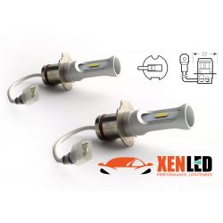 2 LED bulbs H3 - 1600Lms - LED 1860 - White color