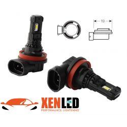 2 x LED-Lampen  H8 H9 H11 H16 Schwarz Serie 5000K 880Lms - High End - Nebel- / Tagfahrlicht