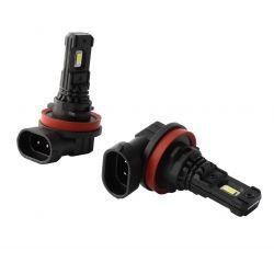 2 x lampadine a LED serie  H8 H9 H11 H16 Black 5000K 880Lms - High End - Nebbia / Luci diurne