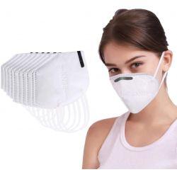 Box 10 Masken KN95 Atemschutz (äqu. FFP2) N95 - Filtration - 10 Einheiten