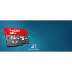 SanDisk Ultra 64GB microSDXC Speicherkarte + 100MB / S, Klasse 10, U1, A1 zugelassen