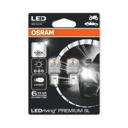 2x W16W LEDriving PREMIUM SL OSRAM 9213CW T15 W2.1X9.5D 12V 3W