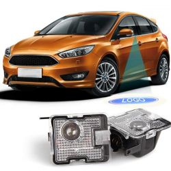 2x Beleuchtung + Coming Home Logo - Ford Focus C-max Kuga Escape Mondeo