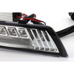 Dynamische LED-Blinker + LED-Tagfahrlicht Volkswagen Scirocco - Klare Version