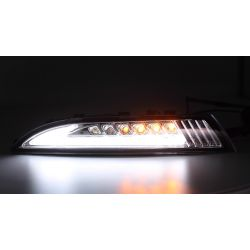 Dynamic LED turning lights + LED daytime running lights  Volkswagen Scirocco - Clear version