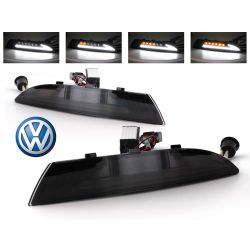 Dynamic LED turning lights + LED daytime running lights  Volkswagen Scirocco - Smoked version