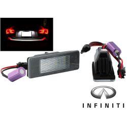 Pack 2 LED license plate Infiniti Q50 / Mercedes Sprinter Vito Viano