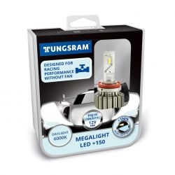 Kit H8 H11 12V-LED (PGJ19) 6000K 18W Megalight LED +150 NO ECE 2st. Tungsram 60480 PB2