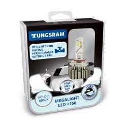 Kit HB3 9005 12V-LED (P20d) 6000K 18W Megalight LED +150 NO ECE 2st. Tungsram 60520 PB2