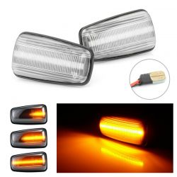 Flashing Repeaters Clear LED DYNAMIC SCROLLING Peugeot 106 306 406 806 Expert Partner