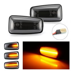 Flashing Repeaters Smoked LED DYNAMIC SCROLLING Peugeot 106, 306, 406, 806 Expert Partner