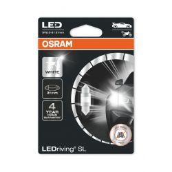 1x LED OSRAM C3W LEDriving SL SV8.5-8 31mm12V 1W 6438DWP-01B