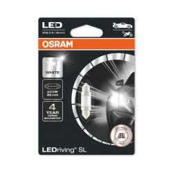 1x OSRAM LED-Lampe LEDriving SL C5W 36mm 6418DWP-01B WEISS