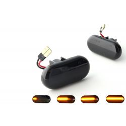 Flashing Repeaters Smoked LED DYNAMIC SCROLLING Renault Clio 1 & 2, Megane, Kangoo, Laguna, Twingo