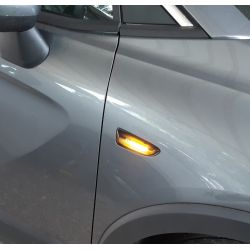 Flashing Repeaters Smoked LED DYNAMIC SCROLLING Opel Astra J  & K, Zafira C, Insignia B, Grandland X
