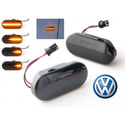 Flashing Repeaters Smoked LED DYNAMIC SCROLLING VW Bora Golf 3 / 4 Lupo Passat Polo Sharan