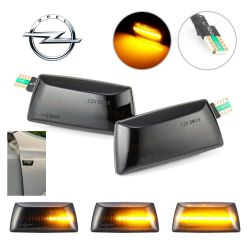 Flashing Repeaters Smoked LED DYNAMIC SCROLLING Opel Adam, Astra H, Corsa D & E, Insignia A, Meriva B, Zafira B