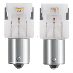 2X LEDRIVING SL P21W LED RED 7506DRP-02B 1156 OSRAM