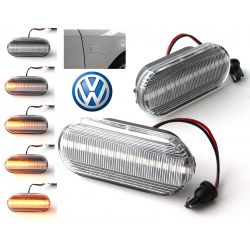 Flashing Repeaters Clear LED DYNAMIC SCROLLING VW Bora Golf 3 / 4 Lupo Passat Polo Sharan