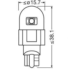 2x LEDriving SL WR16W RED 921DRP-02B 12V