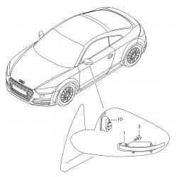 Repeaters dynamic backlighting LED scrolling Audi TT TTRS 8S, R8