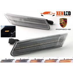 Clear LED Paring Side Turn Signals Porsche 911 997, Boxster 987, Cayman 987