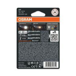 2x W5W OSRAM LEDriving SL T10 WHITE W2.1x9.5d 2825DWP-02B 1W bulbs