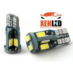 2 x AMPOULES 10 LEDS XENLED (5730) CANBUS LED SAMSUNG - T10 W5W 4W