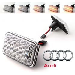 Flashing Repeaters Clear LED DYNAMIC SCROLLING Audi 100 / 200 / A6 / 80 / 90 / Coupé / V8 / 4000