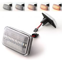 Flashing Repeaters Clear LED DYNAMIC SCROLLING VW Cady Corrado Golf  Jetta  Passat Polo Scirocco